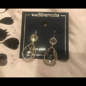 Belk's Silverworks Crystal Earrings
